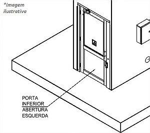 PORTA DE PAVIMENTO INFERIOR ESQUERDA STANDARD ACRILICO  - SEM MOLA AÉREA - (AC08-E-D7990)