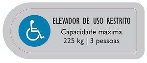 ADESIVO USO RESTRITO - PORTAS DE PAVIMENTO ELEVADOR