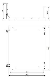Conjunto Base para plataforma fuso 1100 x 1400