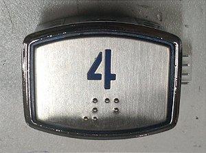 BOTÃO AK30 BLUE LED - BRAILLE - 24VDC Nº 4 (BOTAO 4)