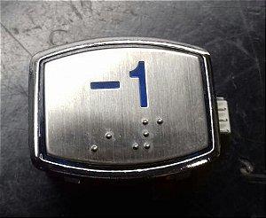 BOTAO AK30 BLUE LED - BRAILLE - 24VDC Nº -1 (BOTÃO -1)