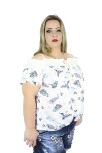 BLUSA PLUS SIZE MARILYN BRANCA