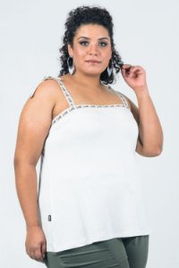 BLUSA PLUS SIZE IN LOVE OFF WHITE