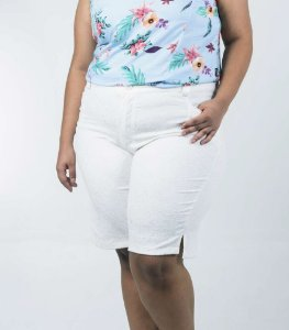 BERMUDA PLUS SIZE TIMBU OFF WHITE