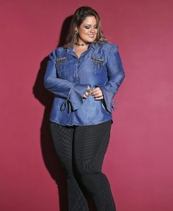 CAMISA JEANS PLUS SIZE MODERN