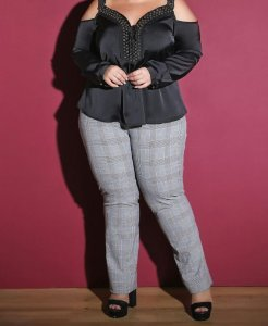 CALÇA XADREZ PLUS SIZE LONDON