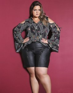 BLUSA PLUS SIZE CHERRY