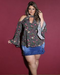 BLUSA PLUS SIZE MISS