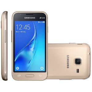 Samsung Galaxy J1 Mini, Dual Chip, 8GB, 5MP, 3G, Dourado - J105