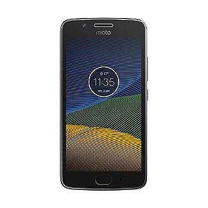 "Smartphone Moto G5 32GB Platinum Dual Chip 4G - Câm. 13MP + Selfie 5MP Tela 5"" Octa Core Desbl."
