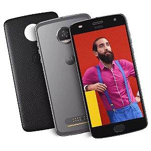 "Smartphone Motorola Moto Z2 Play 64GB Platinum - Dual Chip 4G Câm. 12MP + Selfie 5MP Tela 5.5"""