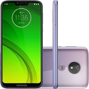 "Smartphone Motorola Moto G7 Power 64GB Dual Chip Android Pie 9.0 Tela 6,2"" 1.8 GHz Octa-Core Lilás"