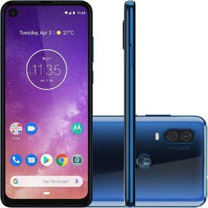 "Smartphone Motorola One Vision 128GB Dual Chip Android Pie 9.0 Tela 6,3"" 4G-azulsafira"