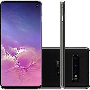 """Smartphone Samsung Galaxy S10 128GB Nano Chip Android Tela 6.1"""" Octa-Core 4G Câmera Tripla Traseira 12MP + 12MP + 16MP - Preto"""