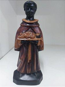São Benedito em madeira 20 cm - Alagoas