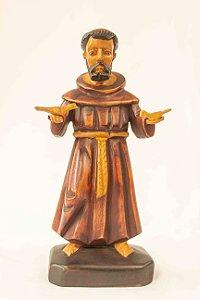 São Francisco em madeira 20 cm -  Dunga de Alagoas