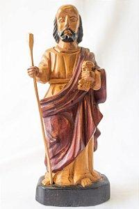 São Pedro 20 cm em madeira| Mestre Dunga │ Alagoas