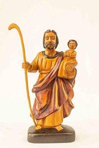 Imagem São Cristovão 20 cm em madeira │ Mestre Dunga │ Alagoas