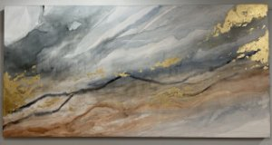 Quadro Wind Color 80x160  Artista Plástica Júlia Vaz