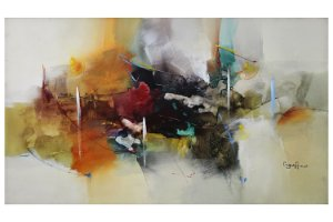Abstrato Marfim | 80x150cm