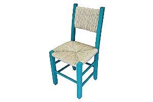 Cadeira Encosto e Assento de Palha