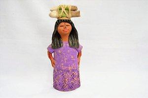 Índia Bugra P 20cm em Cerâmica │Indiana Marques │ MS