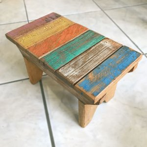 Mini Banquinho madeira de demolição | MG