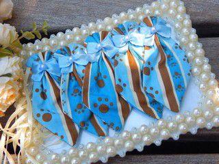 Gravata Joy Pet Patinhas Azul e Marrom