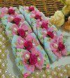 Gravata Borboleta Joy Azul Floral Pink Pérola