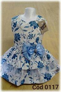 Vestido Dudog Floral Azul