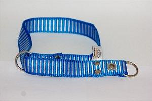 Coleira Enforcador Confraria dos Pets 70x25 - Cores Listradas