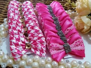 Laço Fita Joy Chevron Pink 3,5cm