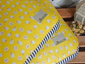 Almofada Pata Chic Yellow Sheep - M