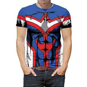 BOKU NO HERO - Uniforme All Might - Camiseta de Animes