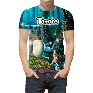 ESTÚDIO GHIBLI - Meu Amigo Totoro - Camisetas de Animes