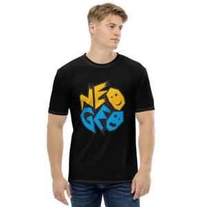 NEO GEO - Logo Preta - Camiseta de Games
