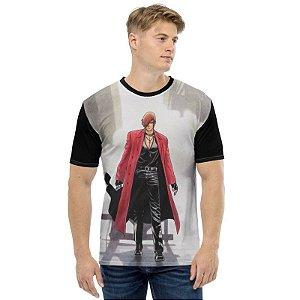 NEO GEO - King of Fighters Iori Guitarra Preta - Camiseta de Games
