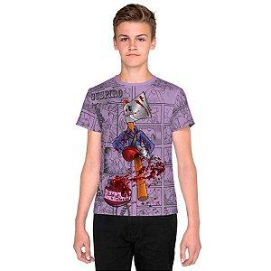 NELSON MACHADO - Machadinho Cosplay Ash Roxa - Camiseta de Dubladores
