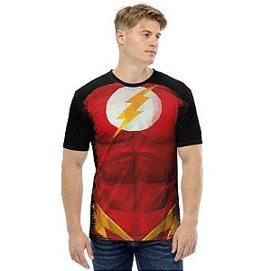 UNIFORMES - DC The Flash Preta - Camisetas Variadas