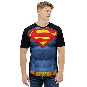 UNIFORMES - DC Superman Preta - Camisetas Variadas
