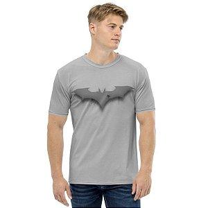 DC COMICS - Batman Logo 3D Cinza - Camiseta de Heróis