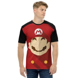 SUPER MARIO - Simples Preta - Camiseta de Games