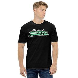 RESISTÊNCIA TOKUSATSU - Logo Preta - Camisetas de You Tubers