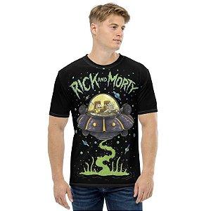 RICK AND MORTY - Nave Espacial - Camiseta de Desenhos