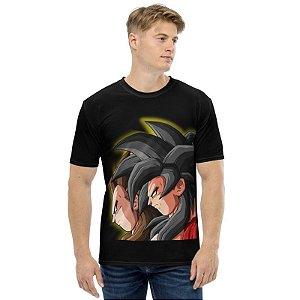 DRAGON BALL GT - Vegeta & Goku Super Sayajins 4 - Camiseta de Animes