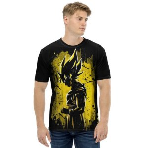 DRAGON BALL Z - Goku Super Sayajin Sombra - Camiseta de Animes