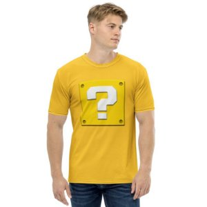 SUPER MARIO - Question Box Amarela - Camiseta de Games