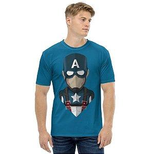 MARVEL - Capitão América Seta Azul - Camiseta de Heróis