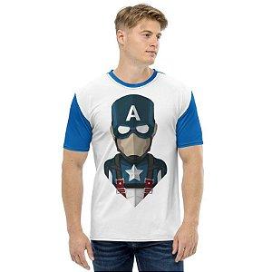 MARVEL - Capitão América Seta Branca - Camiseta de Heróis