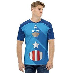 MARVEL - Capitão América Simples - Camiseta de Heróis